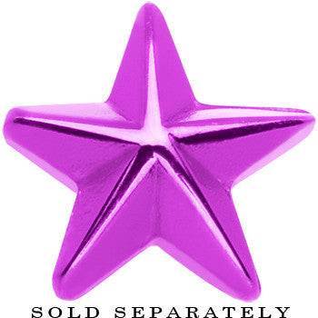 Purple Titanium Star Cheater Plug