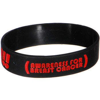 Black Red Black Boobies Rule Awareness for Breast Cancer Bracelet