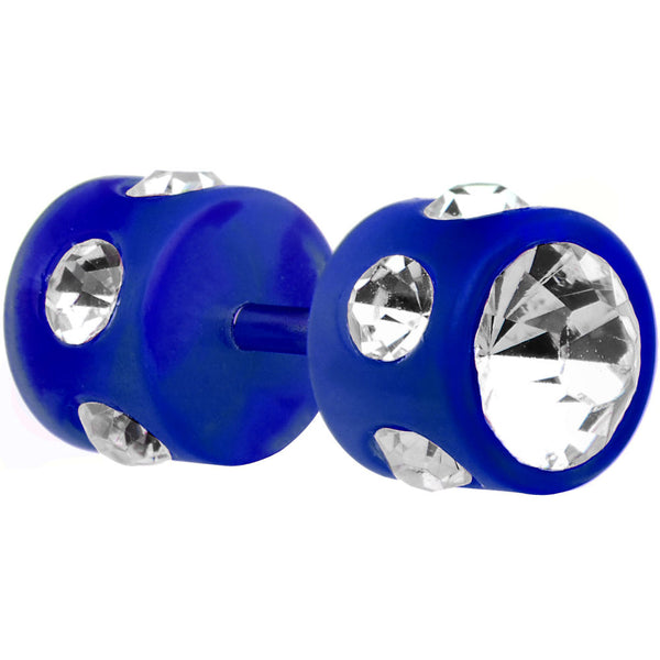 Blue Acrylic Gem Cheater Plug