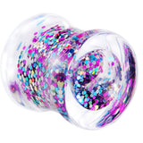 00 Gauge Acrylic Multi Glitter in Motion Saddle Plug