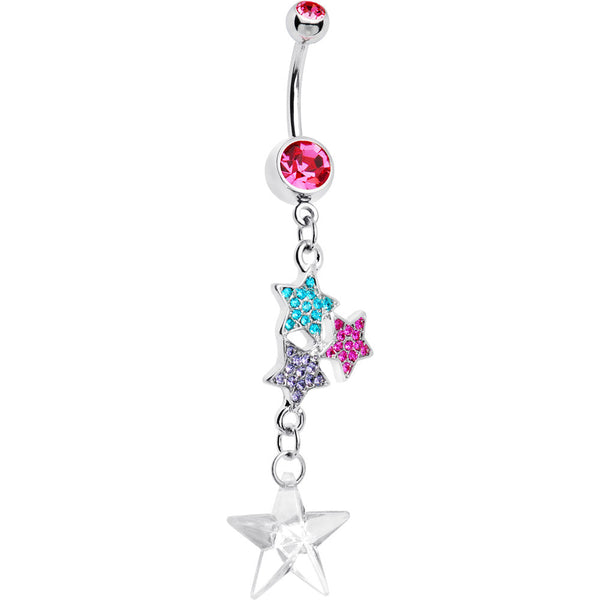 Jeweled Goddess Star Dangle Belly Ring