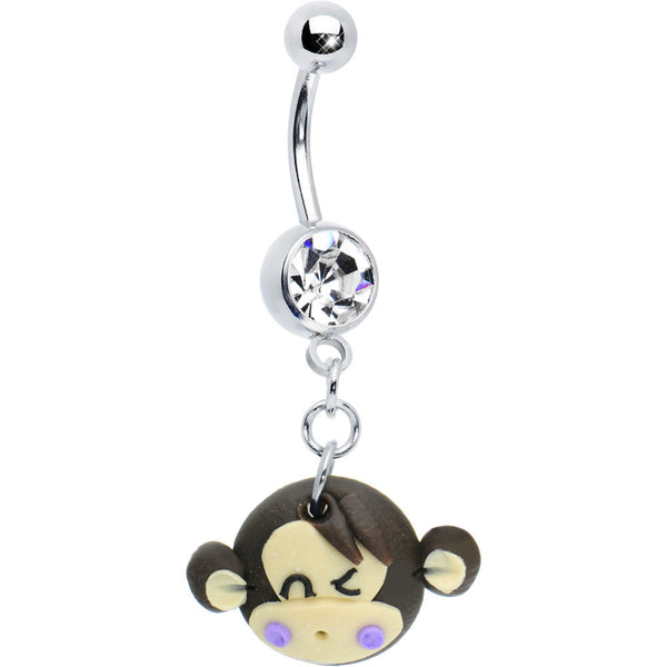 Bananas for Monkey Belly Ring