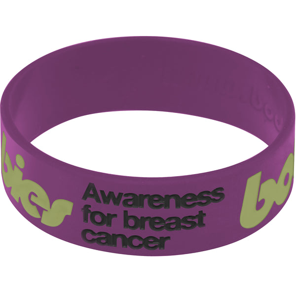 Purple Army Green Boobies Awareness for Breast Cancer Bracelet