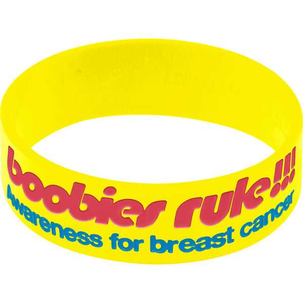 Yellow Blue I Love Motor Boating Breast Cancer Bracelet