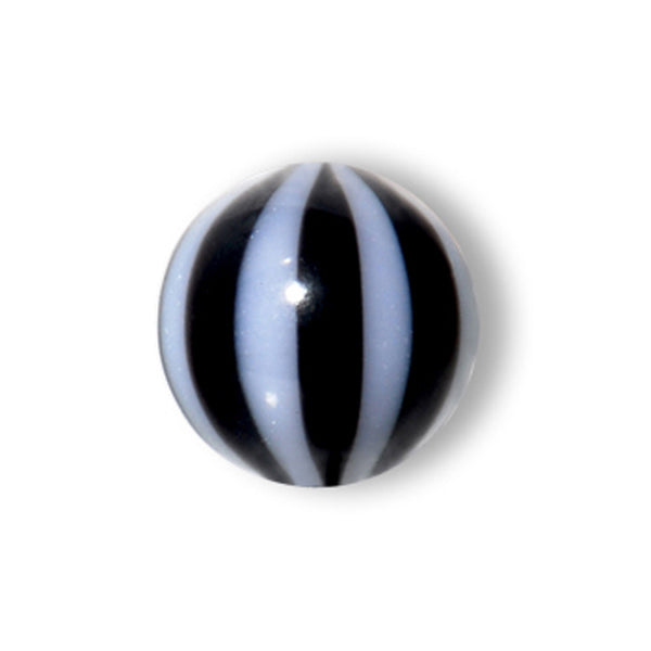 5mm Midnight Black Striped Beach Ball Replacement Ball