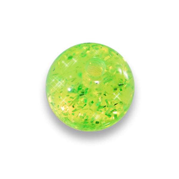 5mm Green Glitter Acrylic Replacement Ball