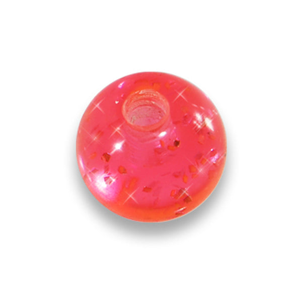 5mm Pink Glitter Acrylic Replacement Ball