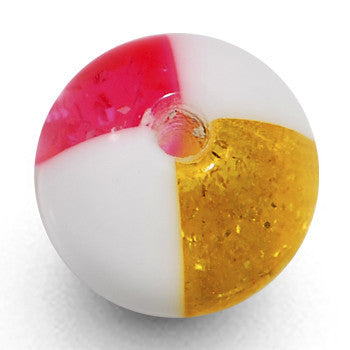 8mm Pink Yellow Hazard Acrylic Replacement Ball