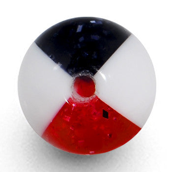 8mm Red Black Hazard Acrylic Replacement Ball