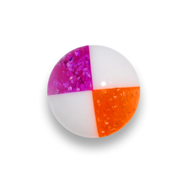 5mm Orange Purple Hazard Acrylic Replacement Ball