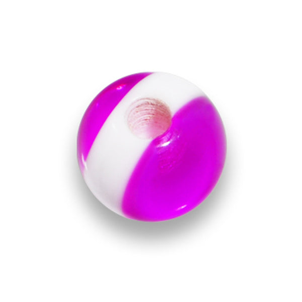 5mm Purple White Stripe Replacement Ball