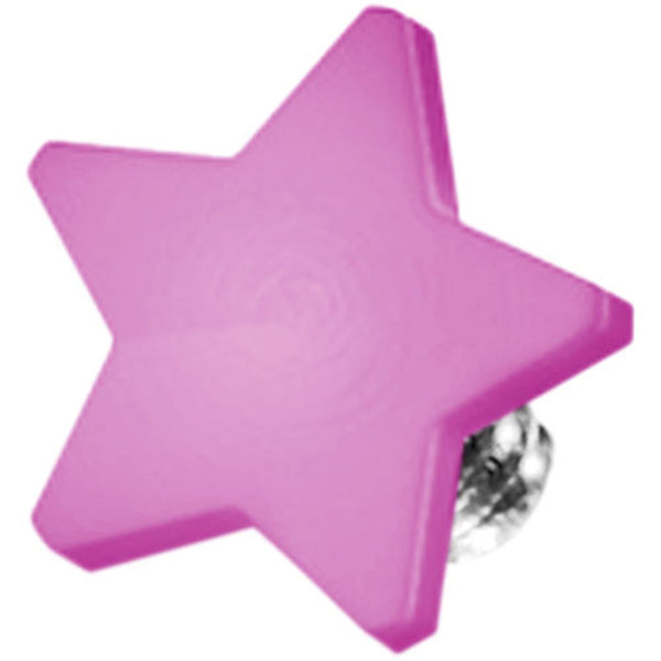 Purple Titanium 4mm Flat Star Dermal Top