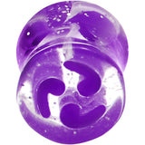 0 Gauge Purple Quotation Symbol Saddle Plug