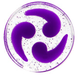"9/16"" Purple Quotation Symbol Saddle Plug"