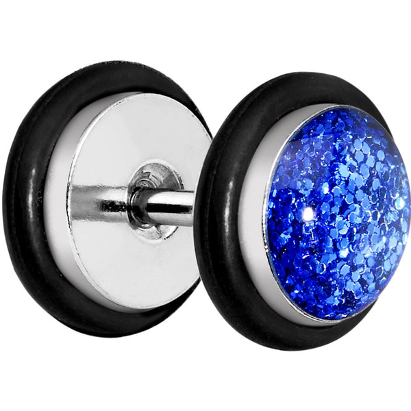 Blue Super Glitter Luxe Cheater Plug