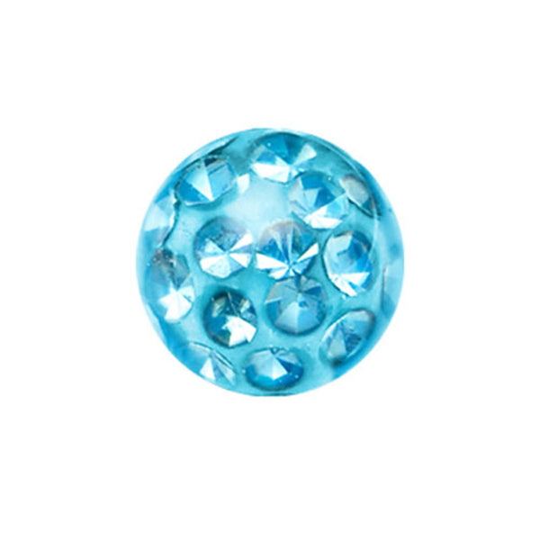 5mm Aqua Crystal Ferido Replacement Ball
