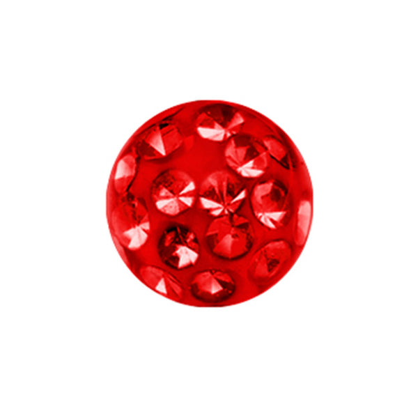 5mm Red Crystal Ferido Replacement Ball