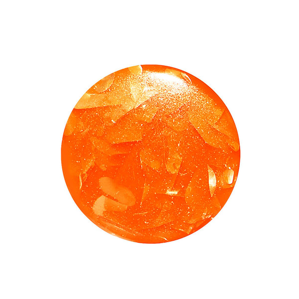 2 Gauge Orange Acrylic Glitz Saddle Plug