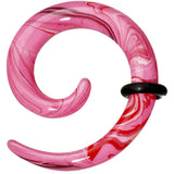 6 Gauge Pink Resin Spiral Taper