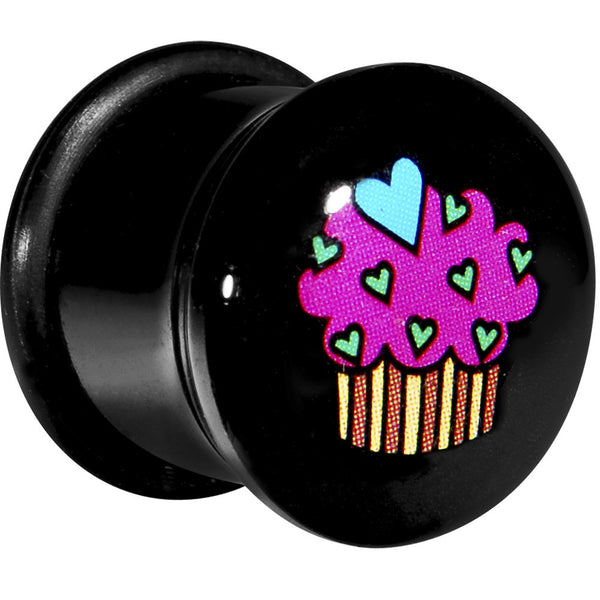 "1/2"" Acrylic Single Flare Heart Sprinkle Cupcake Plug"