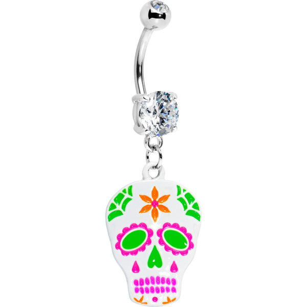 Candied Sugar Skull Belly Ring