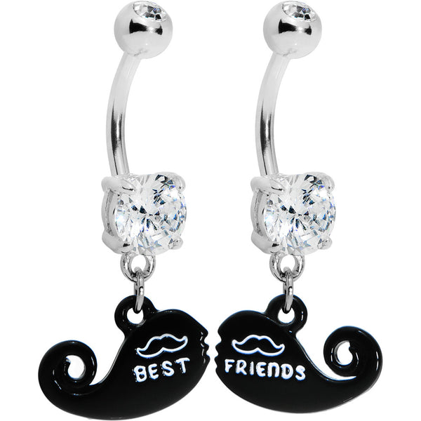 Best Friend Mustache Belly Ring Set