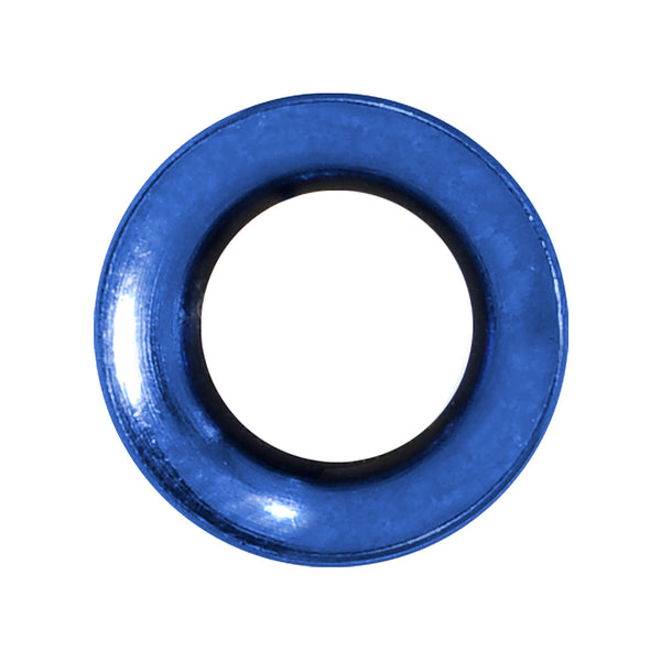 0 Gauge Royal Blue Anodized Titanium Screw Fit Tunnel
