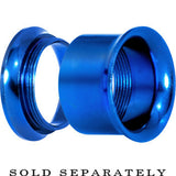 9/16 Royal Blue Anodized Titanium Screw Fit Tunnel