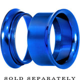 3/4 Royal Blue Anodized Titanium Screw Fit Tunnel