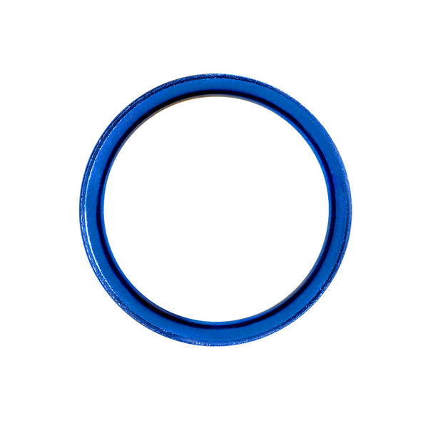 7/8 Royal Blue Anodized Titanium Screw Fit Tunnel