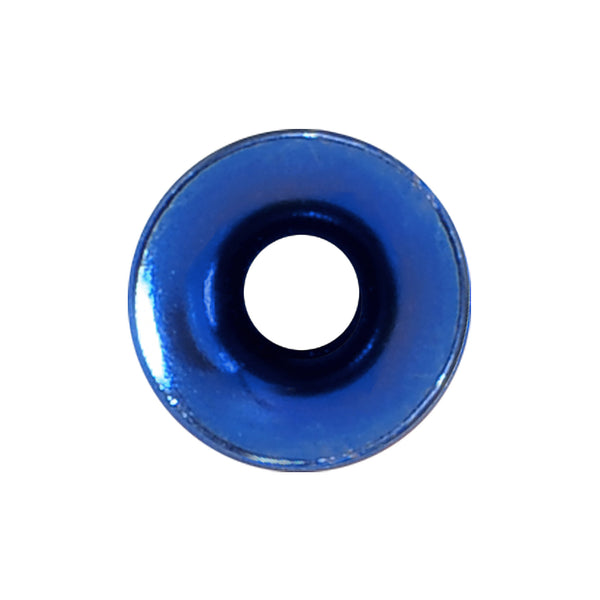 6 Gauge Royal Blue Anodized Titanium Screw Fit Tunnel