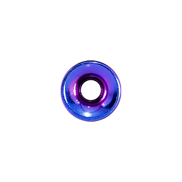 10 Gauge Purple Anodized Titanium Screw Fit Tunnel