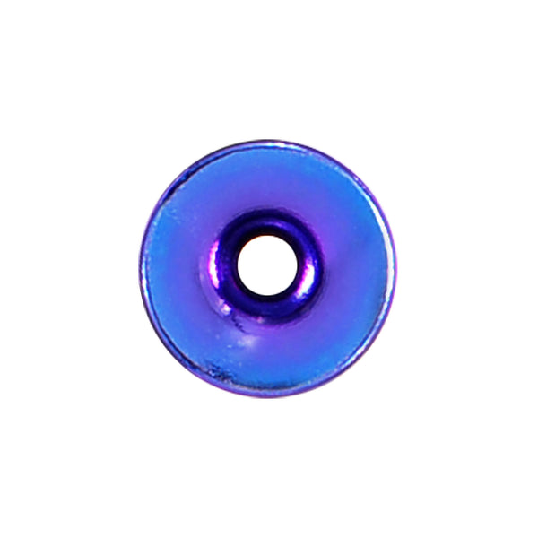 8 Gauge Purple Anodized Titanium Screw Fit Tunnel