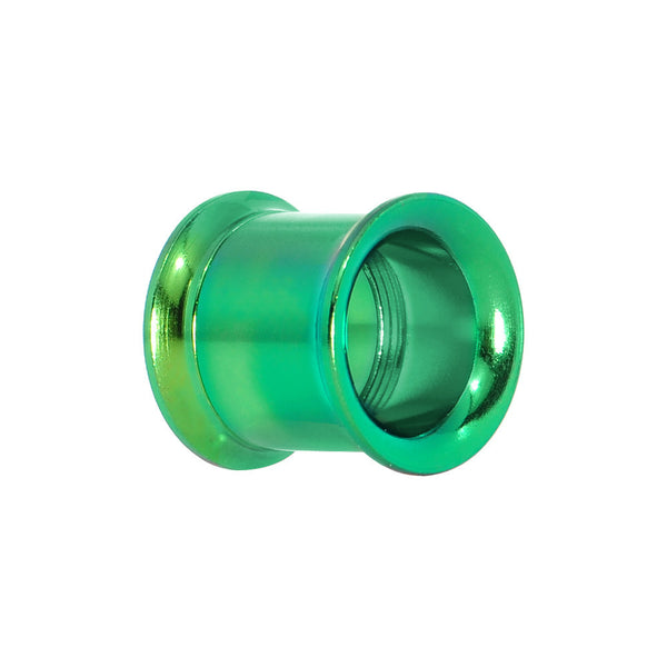 7/16  Rainforest Green Anodized Titanium Screw Fit Tunnel