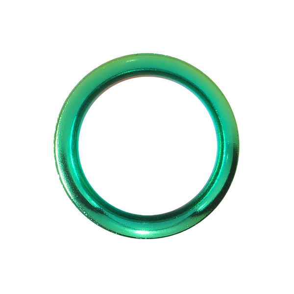 9/16 Rainforest Green Anodized Titanium Screw Fit Tunnel