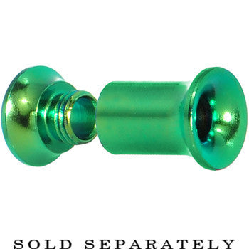 4 Gauge Rainforest Green Anodized Titanium Screw Fit Tunnel