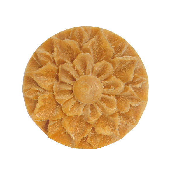 3/4 Crocodile Wood Hand Engraved Flower Plug
