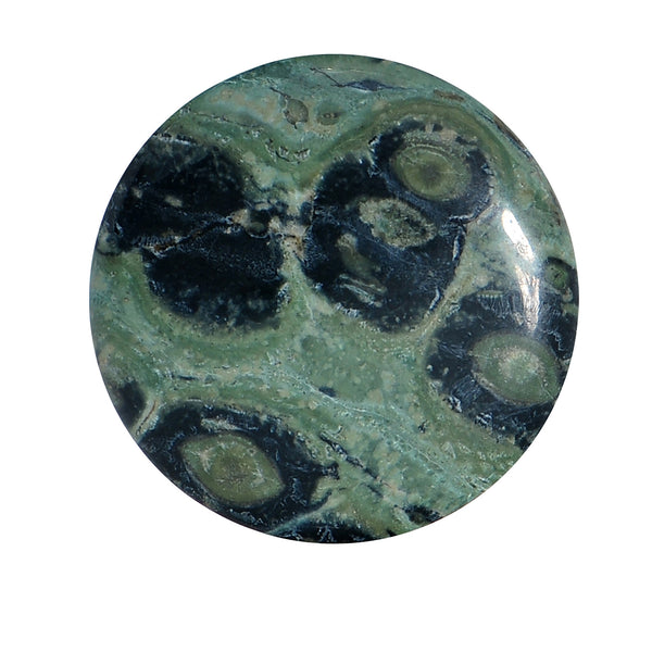 7/8 Green Eye Jasper Natural Stone Saddle Plug