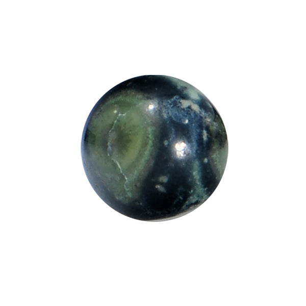 6 Gauge Green Eye Jasper Natural Stone Saddle Plug