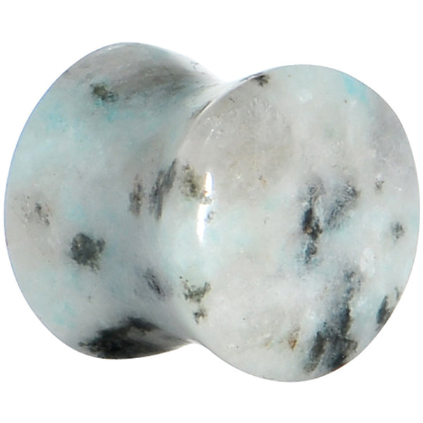 00 Gauge Sesame Jasper Natural Stone Saddle Plug