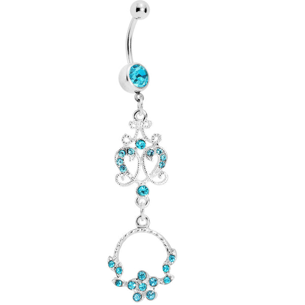 Aqua Baroque Enchantment Chandelier Belly Ring