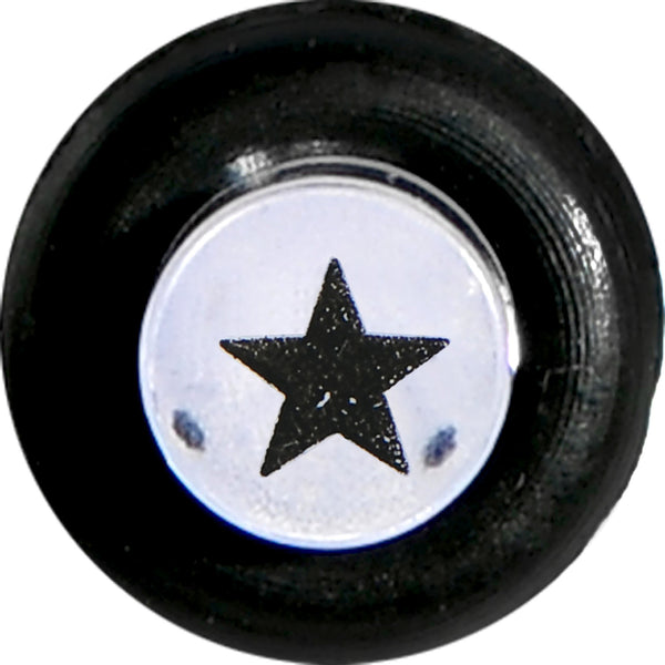 8 Gauge Clear Acrylic Glitter Black Star Confetti Taper