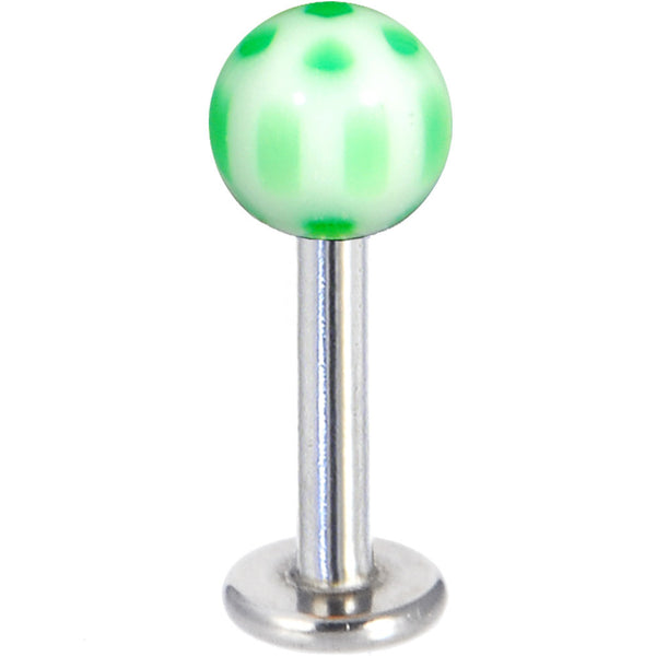 Dark Green and White Acrylic Soccer Ball Labret