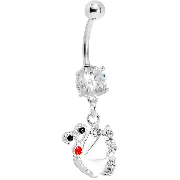Clear Gem Shine Wing Butterfly Belly Ring