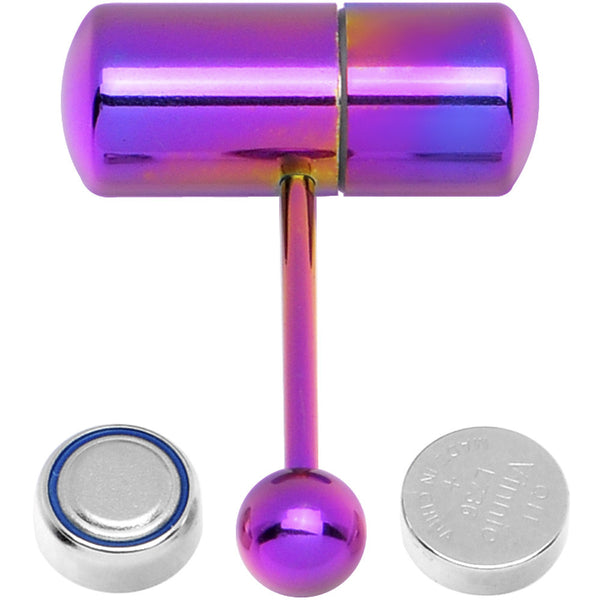 Purple Titanium LIX Vibrator Tongue Ring