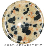 5/8  Natural Stone Dalmatian Jasper Saddle Plug
