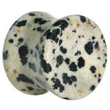 "9/16""  Natural Stone Dalmatian Jasper Saddle Plug"