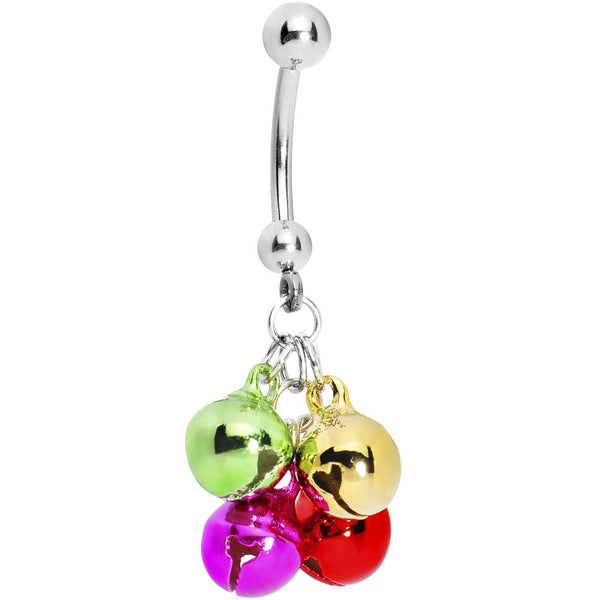 Festive 7mm Jingle Bells Belly Ring