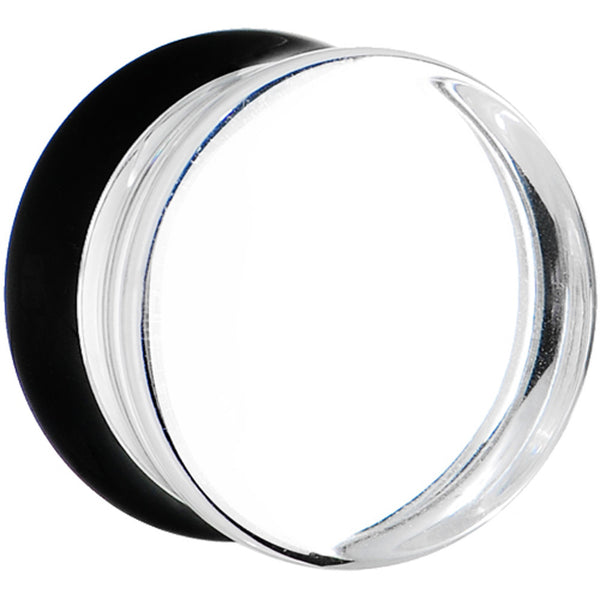 26mm Clear Black Acrylic Mirror Split Saddle Plug