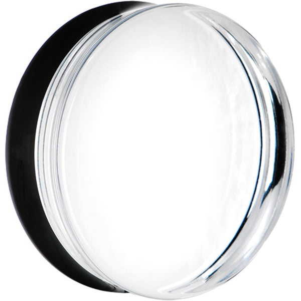 36mm Clear Black Acrylic Mirror Split Saddle Plug